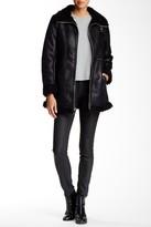 Andrew Marc Jules Faux Suede & Faux Fur Jacket