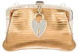 Gucci Lizard Heart Lock Clutch