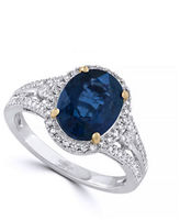 Effy 14K White Gold Diamond Kyanite Ring