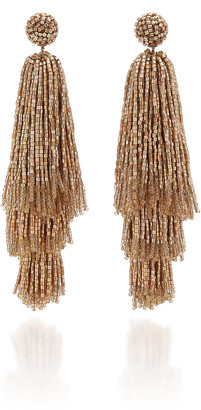 Deepa Gurnani Beaded Tassel Drop Earrings