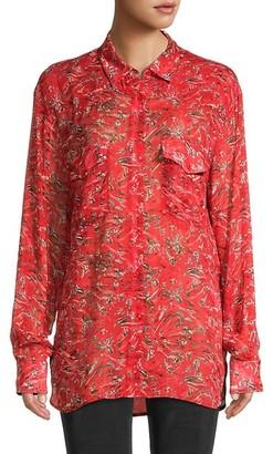 IRO Printed Long-Sleeve Shirt