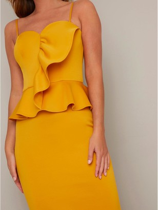 Chi Chi London Ettie Dress - Mustard