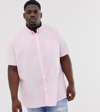 Burton Menswear Big & Tall oxford shirt in pink