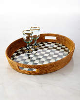 Mackenzie Childs MacKenzie-Childs Courtly Check Rattan Party Tray