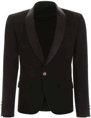 Balmain WOOL BLAZER 50 Black Wool