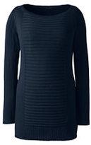 Classic Women's Plus Size Cotton Rib Tunic Sweater-Black