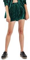 Topshop Crushed Velvet Shorts