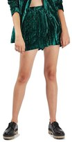 Topshop Women's Crushed Velvet Shorts
