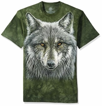 The Mountain Warrior Wolf Adult T-Shirt