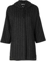 Fabiana Filippi hooded pinstripe jacket - women - Polyester/Viscose/Merino/Polybutylene Terephthalate (PBT) - S