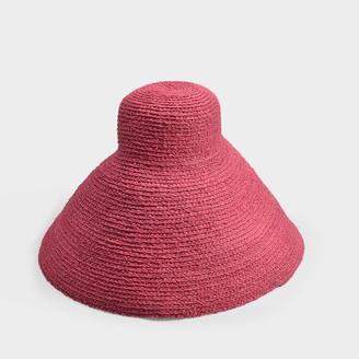 Jacquemus Le Valensole Hat In Pink Raffia