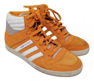 adidas Orange Suede Trainers