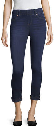 MIXIT Mixit Denim Roll Cuff Wide Waistband Womens Legging
