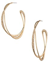 Alexis Bittar Miss Havisham Encrusted Orbiting Hoop Earrings