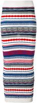 Laneus long knitted skirt