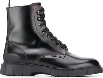 Car Shoe Lace-Up Ankle Boots