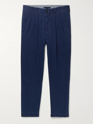 Mr P. Tapered Pleated Cotton Trousers