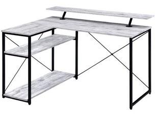 Inbox Zero Drebo Desk Color (Top/Frame): White/Black