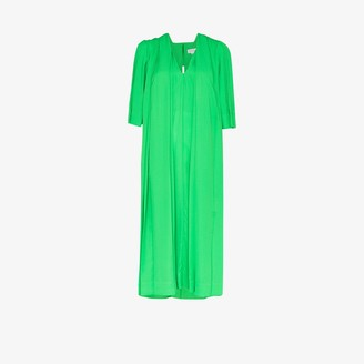 Victoria Beckham deep V-neck georgette dress