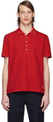 Thom Browne Red Center-Back Stripe Polo