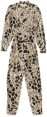 Alberta Ferretti Animal Print Jumpsuit