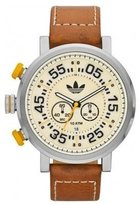 adidas Men's Chronograph Brown Calfskin Stainless Steel Case Date Watch adh3025