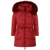 MonnaLisa MonnalisaRed Down Padded Coat With Fur Trim