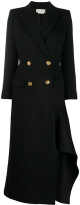 Alexander McQueen Asymmetric Long Coat