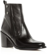 Belstaff Woman's Dursley Leather Block Heel Booties