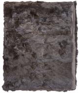 Adrienne Landau Rabbit Fur Throw