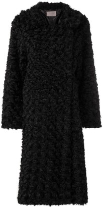 Christopher Kane reversible faux fur coat
