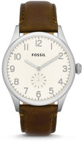 Fossil The Agent Brown Leather Watch