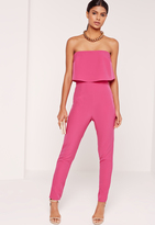 Missguided Double Layer Romper Pink