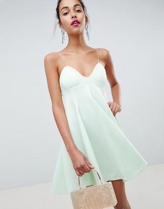 Asos Design DESIGN cami babydoll swing mini dress