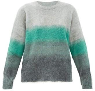 Etoile Isabel Marant Drussell Degrade-striped Mohair-blend Sweater - Green