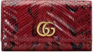Gucci GG Marmont python continental wallet