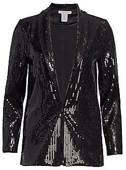 Joan Vass Women's Petite Sequin Blazer