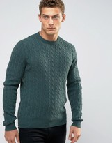 Jack Wills Marlow Cable Crew Jumper Merino Knit