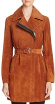 Andrew Marc Belted Suede Trench Coat