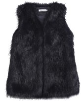 JOLLYCHIC Women's Faux Fur Sleeveless Outwear Vest Jacket Winter (M, )