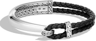 John Hardy Men's Classic Chain Sterling Silver & Leather Bracelet