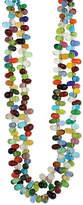 Zad ZAD Women's Necklaces Multi - Rainbow Teardrop Beaded Necklace