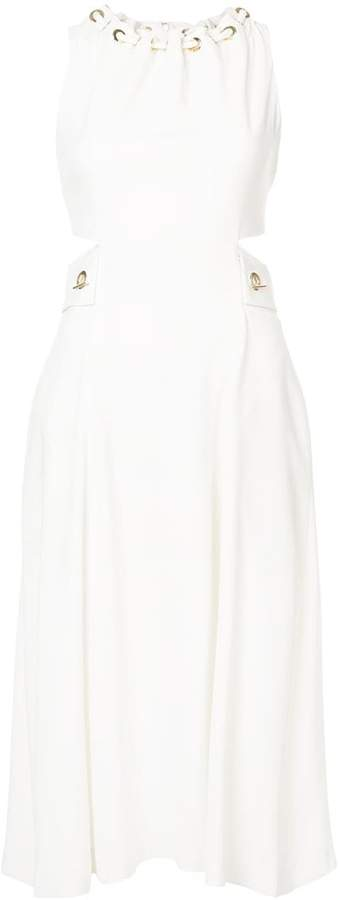 Derek Lam 10 Crosby Sleeveless Dress With Grommet And Lacing Detail
