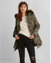 Express faux fur hooded parka