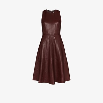 Remain Portia leather midi dress