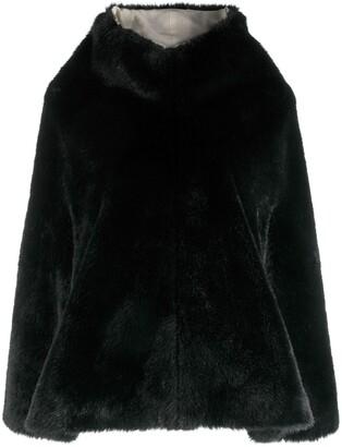 Junya Watanabe Comme Des Garçons Pre Owned Faux-Fur Overhead Cape