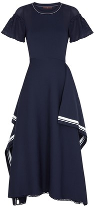 High Boundless navy rib-knit midi dress