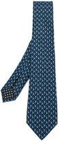 Bulgari micro frog printed tie