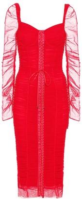 Dolce & Gabbana Cotton and silk-blend tulle dress
