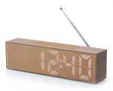 Lexon Titanium LED Clock Radio - Soft Gold
